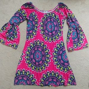 Simply Southern bell sleeve mini dress, sz small